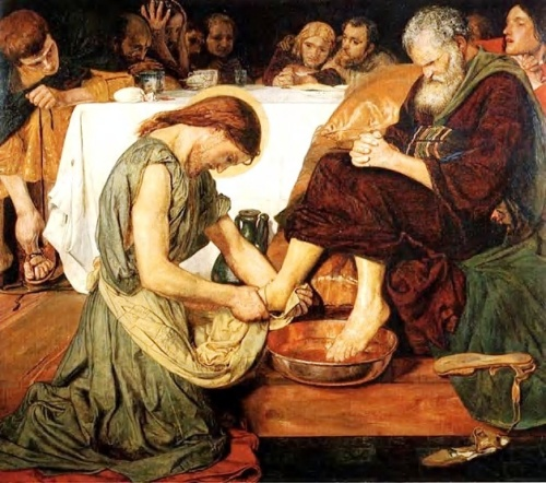 Jesus washing desciples' feet