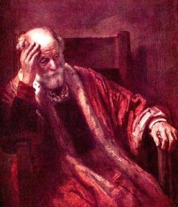 uomo pensieroso - rembrandt