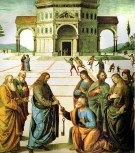 Perugino, Peter receives the keys