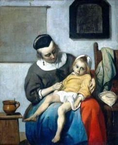 Metsu - The Sick Child (1660)